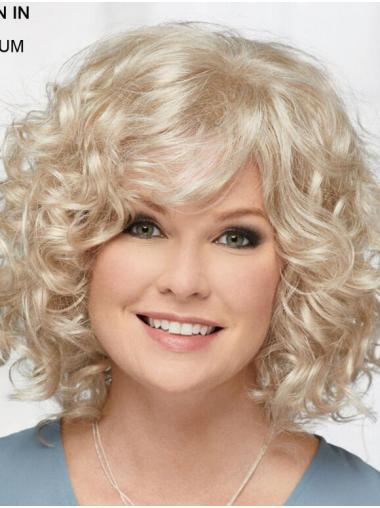 "Geen gedoe 12"" Halflang 100% Machinaal Platinum Blonde Klassiek Pruiken"