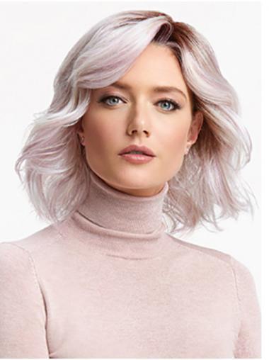 "Roze Krullen 12"" Gelaagd Lace Front Pruiken"