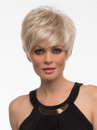 Blonde Kort Goedkoopste Synthetische Pruiken