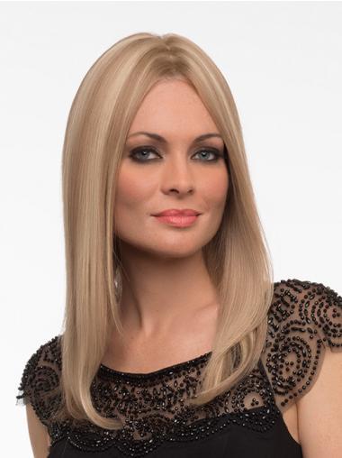 Rustgevend Remy Naturrlijk Haar Blonde Monofilament Pruiken