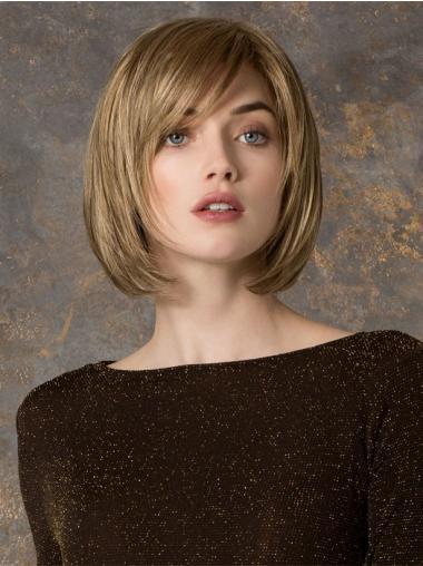 Blonde Steil,Bobline Gezond Monofilament Pruiken