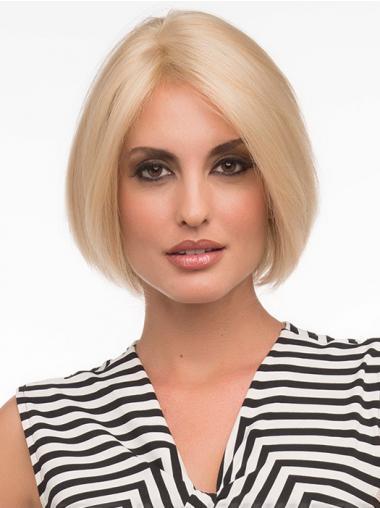 Blonde Steil,Bobline Indrukwekkend Monofilament Pruiken