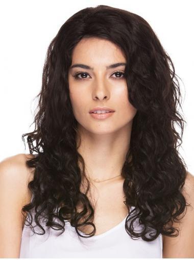 Bruin Lang Hoge kwaliteit Pruiken Echt Haar, Damespruiken,Pruiken