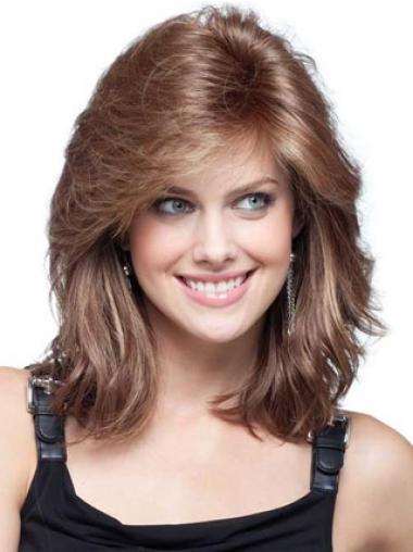 Lange Pruiken Echt Haar.Volwassen Remy Naturrlijk Haar Kastanjebruin Lange Pruiken