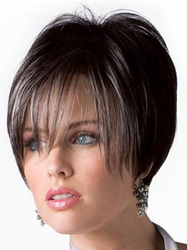 Bruin Kort Beleefd Pruiken Echt Haar