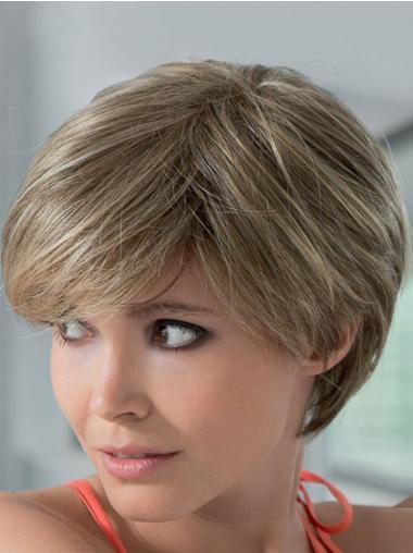 Geschikt Remy Naturrlijk Haar Blonde Korte Pruiken
