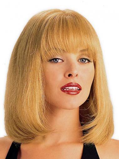 Uniek Remy Naturrlijk Haar Blonde Monofilament Pruiken