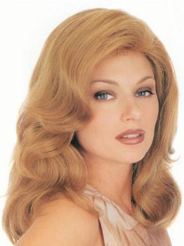 Blonde Golvend,Stijl Koel Klassiek Pruiken