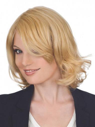 Populair Remy Naturrlijk Haar Blonde Korte Pruiken