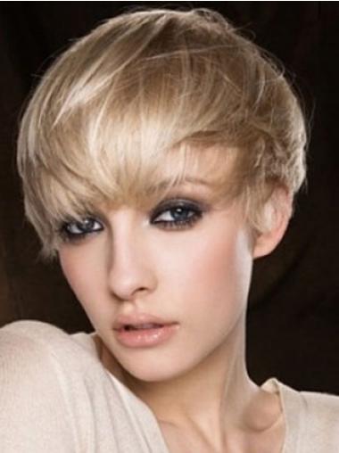Blonde Kort Nieuwe Pruiken Echt Haar