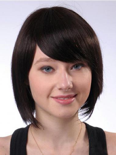 Bruin Halflang Ongelooflijk Pruiken Echt Haar