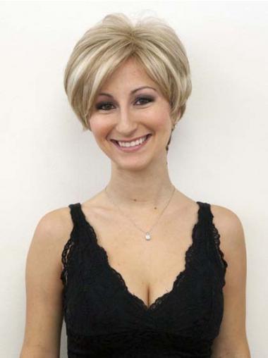 Ongelooflijk Remy Naturrlijk Haar Blonde Korte Pruiken