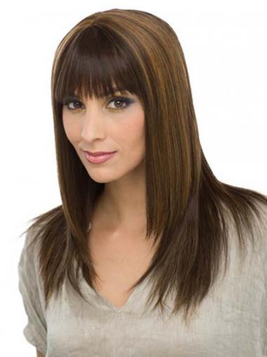 Bruin Lang Groot Pruiken Echt Haar