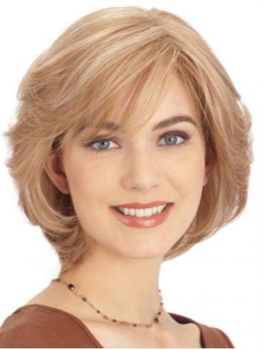 Blonde Steil,Stijl Traditiona Monofilament Pruiken