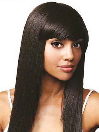 Braw Indian Haar Zwart Lace Pruik