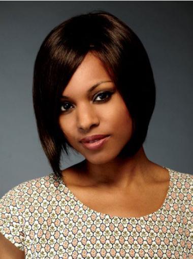 Rustgevend 100% Machinaal Brazilizan Haar Afro Amerikaanse Pruiken