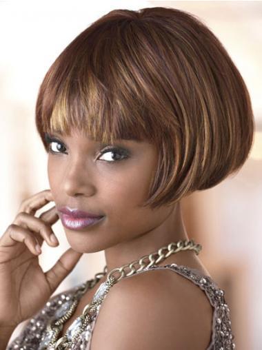 Sassy Kort Steil,Bobline Afro Amerikaanse Pruiken