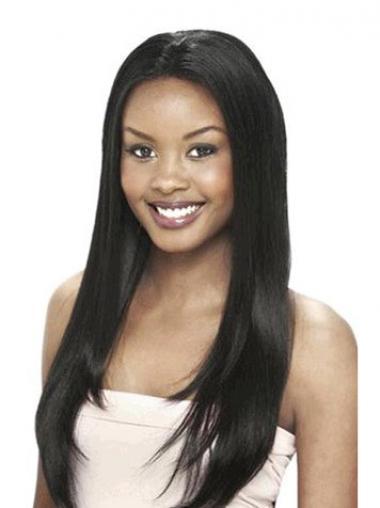 Elegant Indian Haar Zwart Lace Pruik