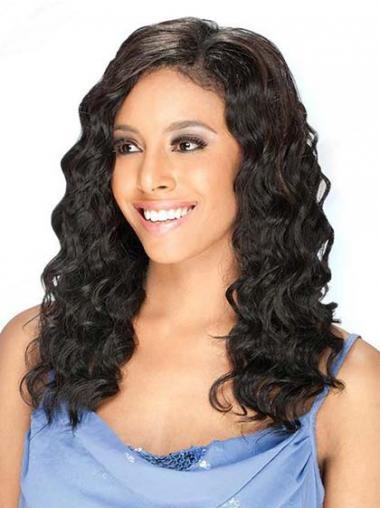 Glad Brazilizan Haar Zwart Lace Pruik
