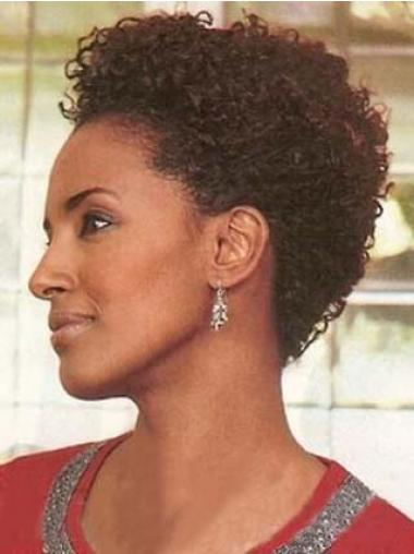Beste Kort Krullen,Stijl Afro Amerikaanse Pruiken