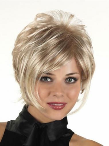 Blonde Kort Goedkoop Synthetische Pruiken