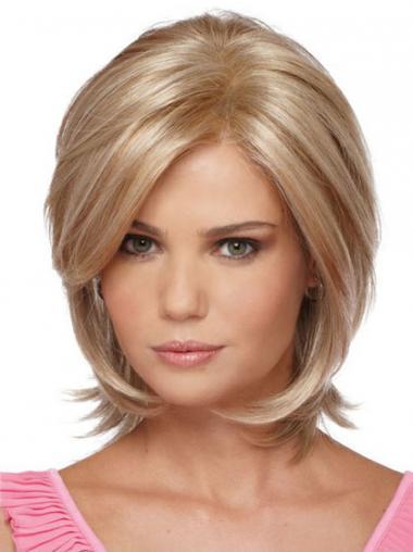 Blonde Halflang Ideaal Synthetische Pruiken