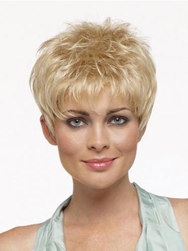 Blonde Kort Ongelooflijk Synthetische Pruiken