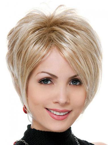 Blonde Kort Modern Synthetische Pruiken