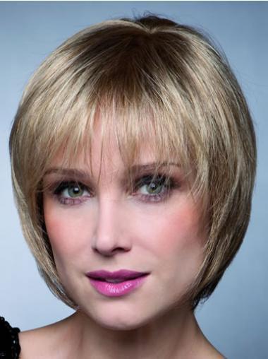 Blonde Kort Online Synthetische Pruiken
