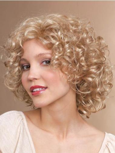 Blonde Halflang Perfect Synthetische Pruiken