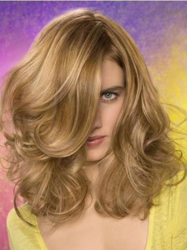 Mode Synthetische Blonde Lange Pruiken