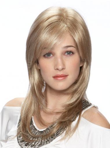 Ideaal Synthetische Blonde Lange Pruiken