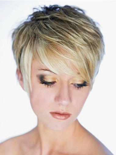 Blonde Kort Aanlokkelijk Synthetische Pruiken