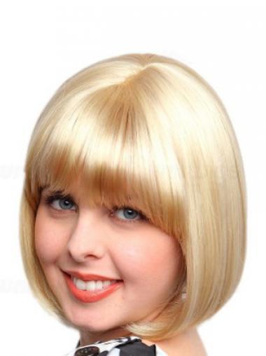 Blonde Halflang Uniek Synthetische Pruiken