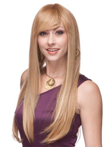 Prachtig Remy Naturrlijk Haar Blonde Monofilament Pruiken