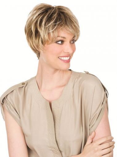 Blonde Golvend,Stijl Nieuwe Monofilament Pruiken