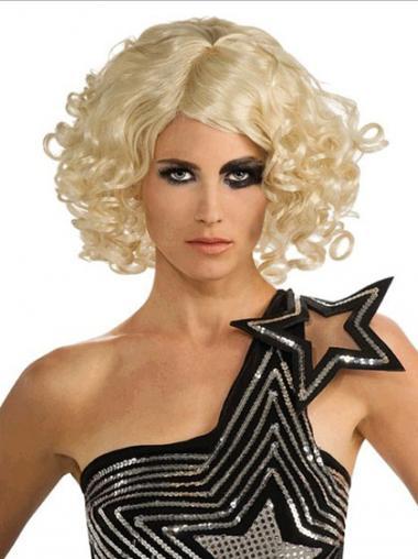 Lace Front Halflang Elegant Lady Gaga Pruik