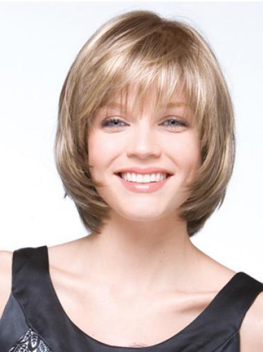 Indrukwekkend Halflang Blonde Bobline Pruiken