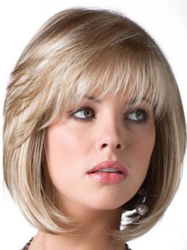 Volwassen Halflang Blonde Bobline Pruiken
