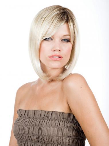 Blonde Steil,Bobline Koel Monofilament Pruiken