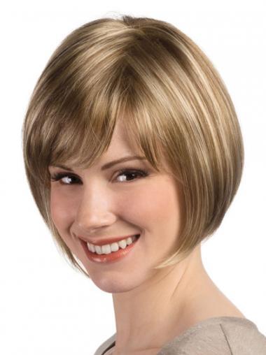 Gezond Synthetische Blonde Monofilament Pruiken