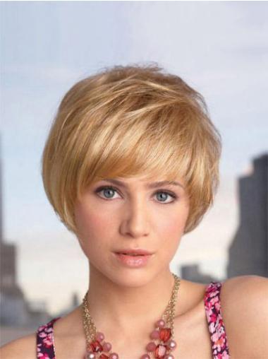 Volwassen Blonde Kort Bobline Pruiken