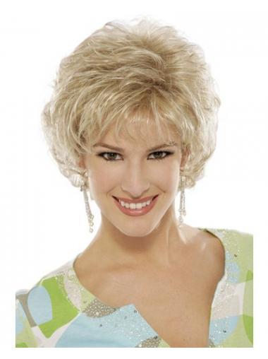 Blonde Kort Populair Klassiek Pruiken