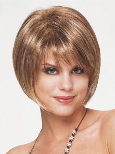 Blonde Natuurlijk Synthetische Korte Pruiken