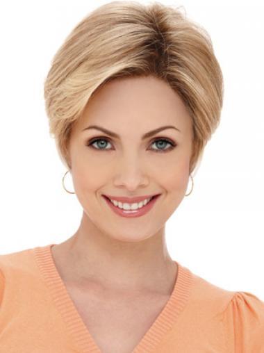 Verbazingwekkend Blonde Synthetische Grijze Pruik