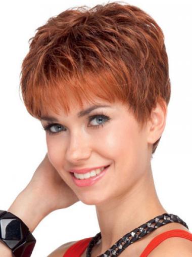 Aangenaam Remy Naturrlijk Haar Rood Korte Pruiken