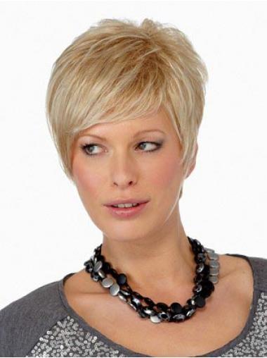 Blonde Indrukwekkend Korte Pruiken