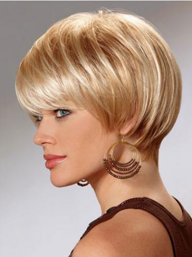 Blonde Comfortabel Synthetische Korte Pruiken