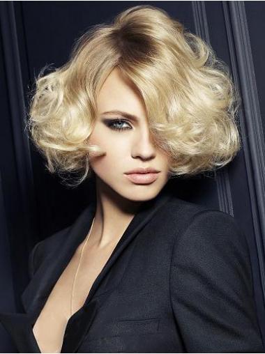 Blonde Halflang Aanlokkelijk Korte Pruiken