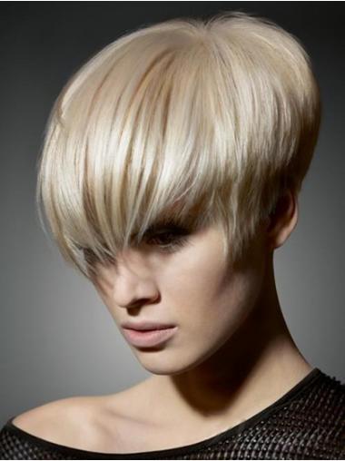 Blonde Uniek Korte Pruiken